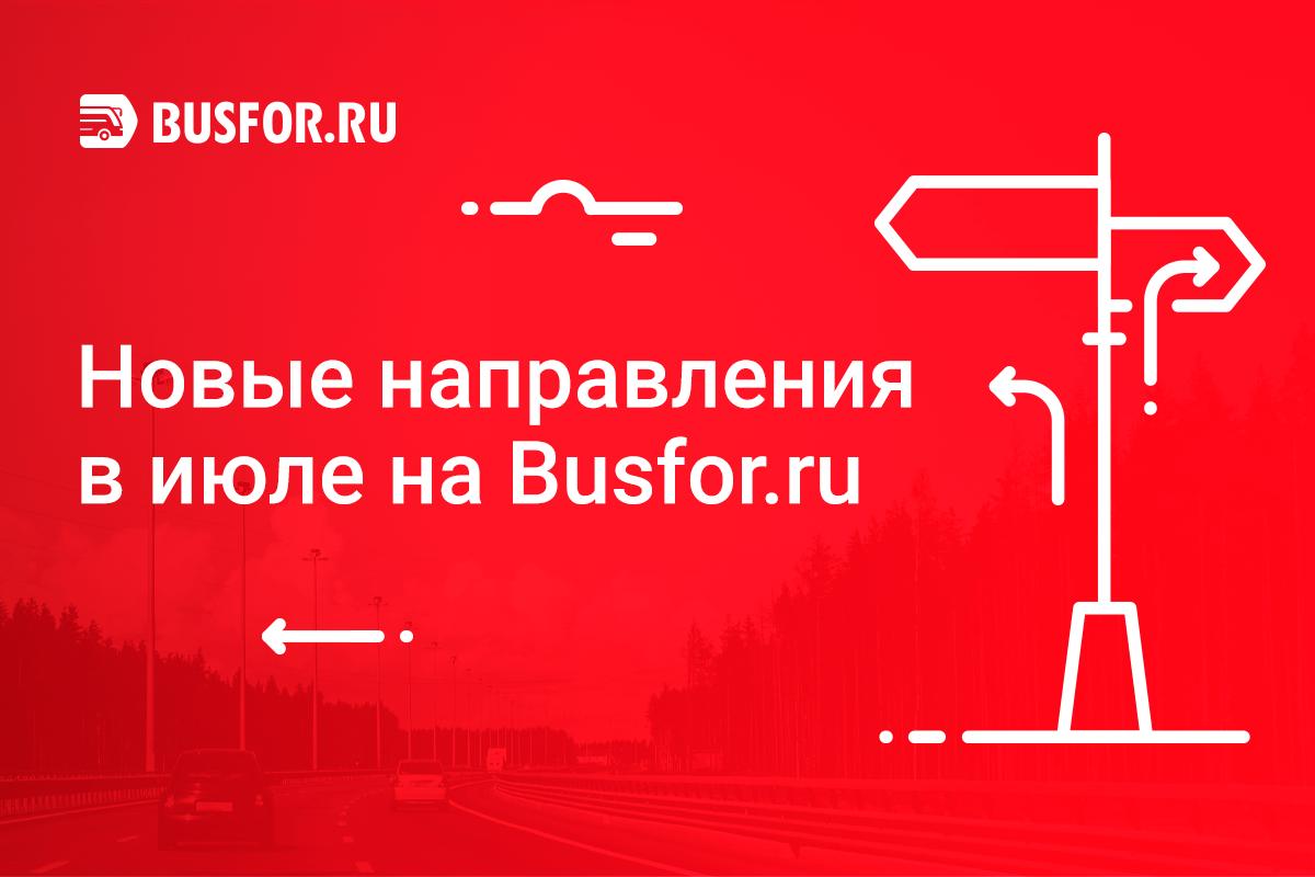 Новые направления в июле на Busfor.ru