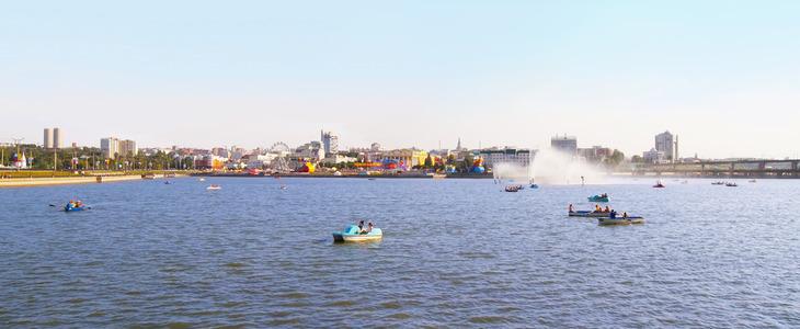 Чебоксарский залив и Историческая набережная